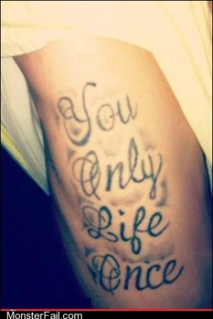 Funny tattoos Ugliest Tattoos Poetic Justice