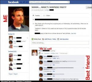 So I got a FB invite to a surprise birthday party