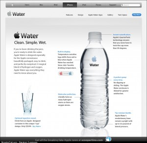 If Apple made bottled water xpost rhumor