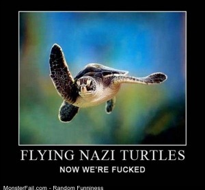 Funny Pics Flying Nazi Turtles