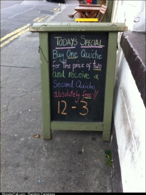 What a great special at this cafe