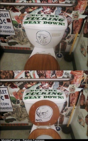 Funny Pics Put The Seat Down