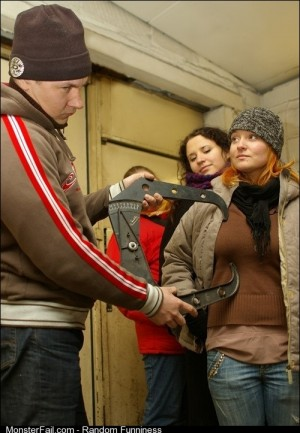 Doorman at a Russian nightclub