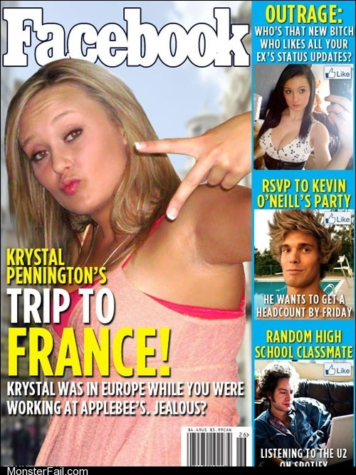 Funny facebook fails If Facebook Were Facemagazine Weekly