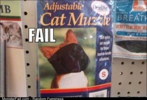 Fail cat Muzzle