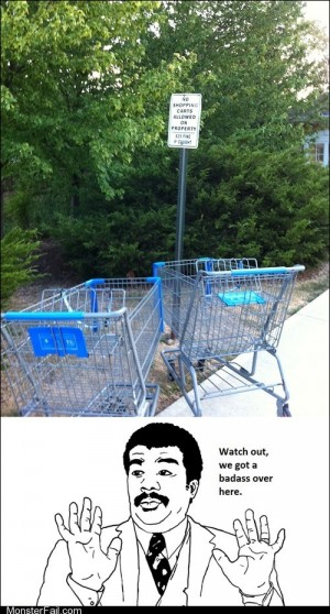 Those are some rebellious carts
