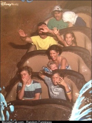 I dont think my cousin understands how splash mountain works