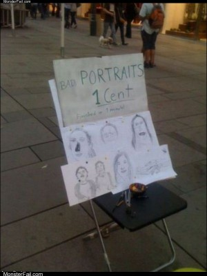 Bad portraits