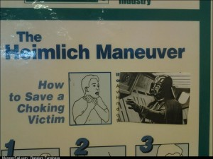 Im not positive but I dont think the heimlich works on that