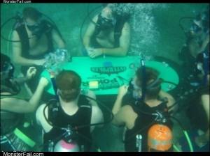 Under water poker