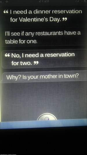 Fucking siri even thinks my brother is forever alone