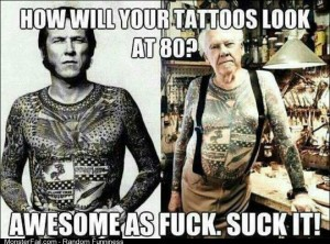 How will your tattoos look when your 80