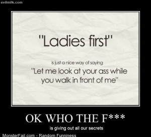 Funny Pics Ladies First