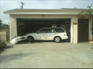 How My 89 year old neighbor parks in his garage