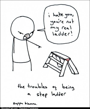 The troubles of being a stepladder