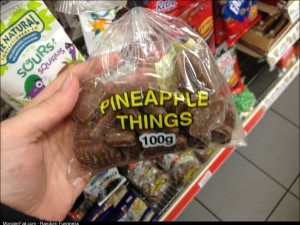 My friend found these deliciously vague snacks at the super market