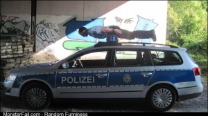 I see your Canadian cops and i raise you a German policeman