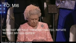 What the Queen was really doing