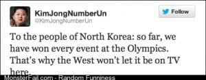 Kim Jong Un tweets about the Olympics