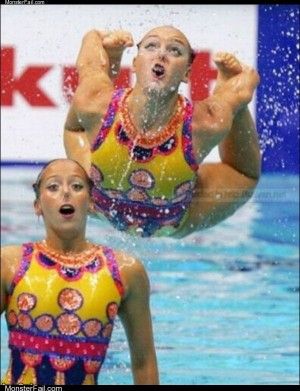 Crazy swimmers