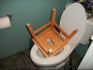 My boyfriend left a huge stool in my toilet when he came over today