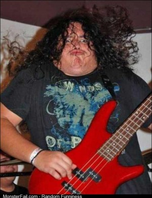 Heavy metal duck face