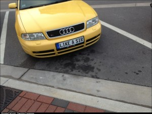 Ok which one of you owns a yellow Audi