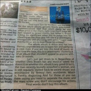 Chris Brown Album Review No stars