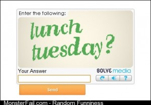 Have I just been asked out by a captcha code
