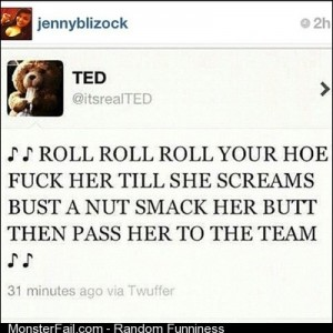 Lmmfao phototags follow my girl jennyblizock hilarious funny funnypost funnypics funnypicture comedy ted bear