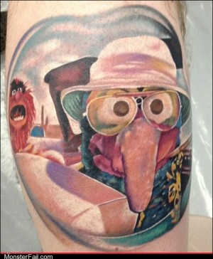 Funny tattoos Ugliest Tattoos Gonzo S Thompson
