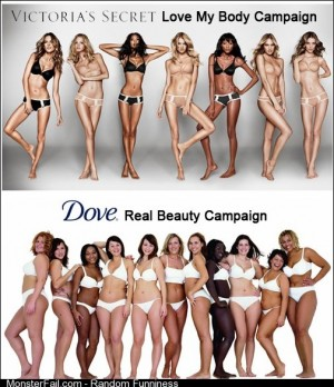 The difference between Victorias Secret and Dove