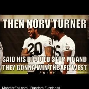 LMAO lmao Lol Funnypics OaklandRaiders RaiderNation SilverNBlack Raiders norvturner darrenmcfadden marcelreece nfl trainingcamp chargers