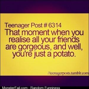 Well Im just a potato tumblrpost tumblr blog teenager teenagerpost friends gorgeous justapotato potato funny funnypics funnyfacts lifefacts instagood instamood iphonesia igersitalia igersmilano insta9ram Scattata con a hrefhttpinstagramcomInstagrama press
