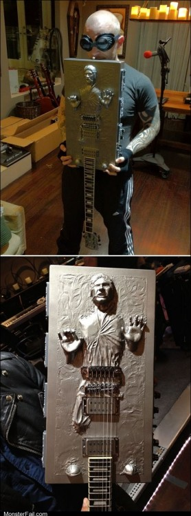 Han Solo Trapped in Guitarbonite