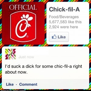 Trolling ChicFilA my new morning pastime
