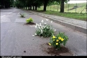 White trash repairs Environment Friendly Pothole Fillers