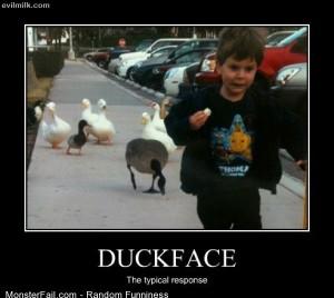 Funny Pics Duckface Response