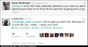 Louis CK and Ewan McGregor have an exchange on twitter
