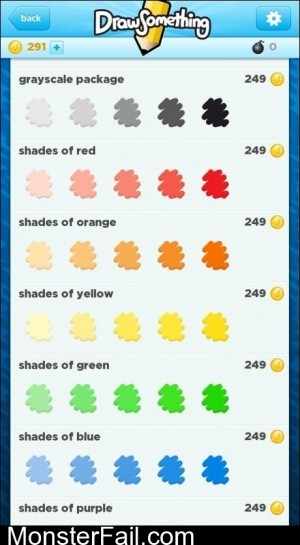DrawSomething No Shades Of Gray
