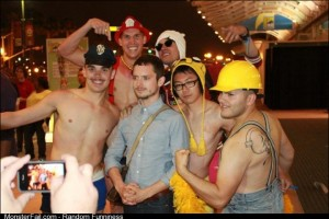 That one time my friends bombarded Elijah Wood at ComicCon while dressed as male strippers