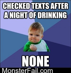Success Kid On Drunk Texts