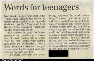 Crazy Advice for Teens