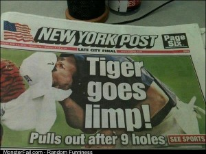 Back page of the NY Post