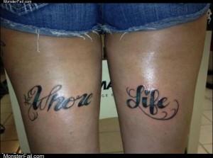 Her life tattoo