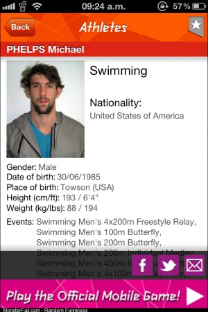 So this is the official olympic photo of Michael Phelps