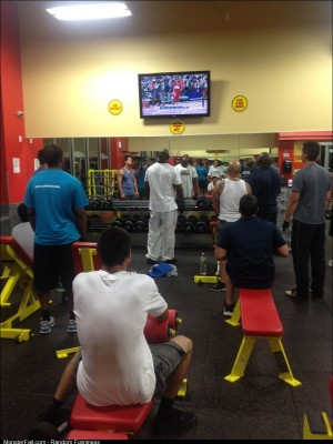My gym during the Olympics