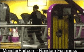 Working it on the treadmill