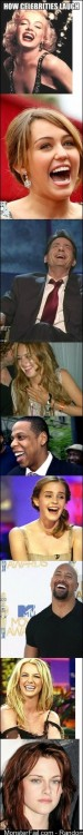 How celebrities laugh