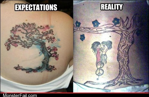 Funny tattoos Ugliest Tattoos Tree of Nightmares